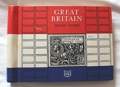 Stanley Gibbons Great Britain Special Stamps Album with inserts and some stamps