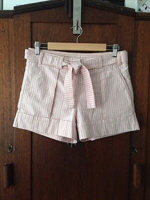 Country Road Pink & White Striped Shorts Women's Size 8