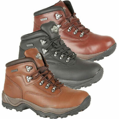 Mens Northwest Territory Waterproof Breathable Leather Walking Boots Higrip Sole