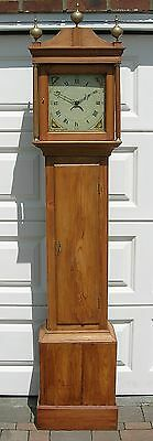 Natural pine cased country cottage long case clock