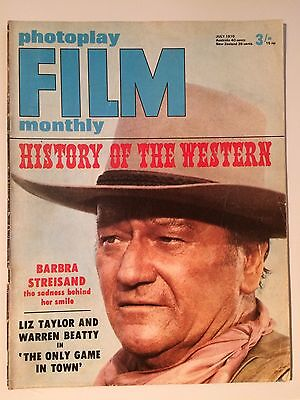 Photoplay Film Monthly Magazine July 1970 - History Of The Western - Streisand