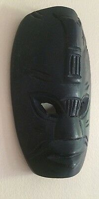 African small man's wooden mask hand carved