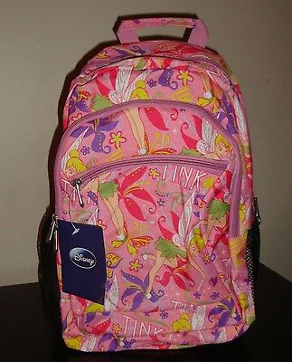 Disney FAIRIES TINKERBELL School Bag Back Pack  NEW  Tink Pink BackPack