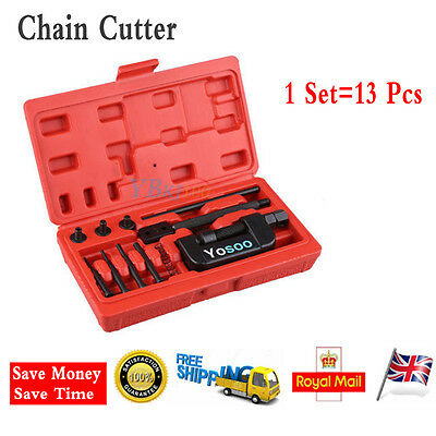 Various 13Pcs Chain Cutter Breaker Rivet Tool Kit ATV Bicycle Motorcycle Anvil I
