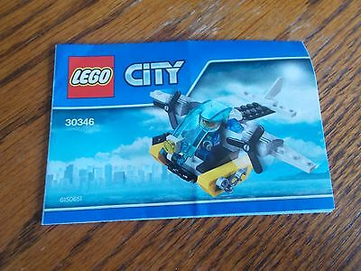 Lego City 30346 Prison Island Helicopter Instruction Booklet Only