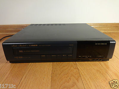 Fisher FVH-7200 Stereo VCR VHS Video Cassette Recorder 1990 Japan TESTED Works!