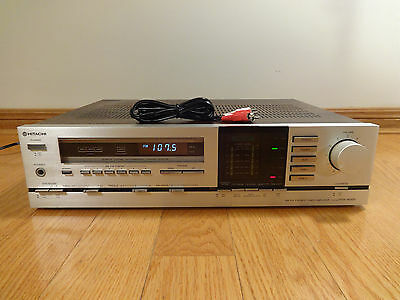 Hitachi HTA-4000 Stereo AM/FM Tuner Receiver Amplifier 1981 Japan TESTED CLEAN!