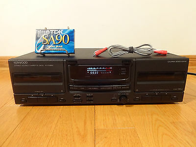 Kenwood KX-W894 Stereo Dual Cassette Deck HX-PRO 1994 TESTED 100% Works Great!