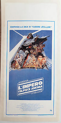 Star Wars - THE EMPIRE STRIKES BACK poster Linen Backed Authentic