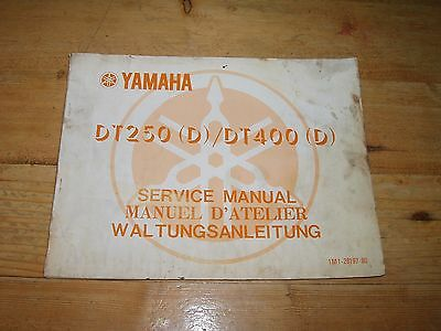 Genuine Manufacturers Service Manual for Yamaha DT250 (D) / DT400(D)  Dated 76.