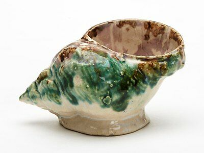 Antique Pottery Conch Shell Shaped Salt 19Th C.