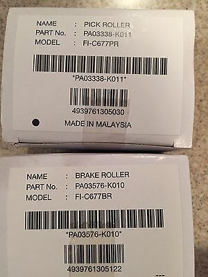 Genuine OEM Roller Set Of 1 Pick / 1 Brake Rollers For FI-6670 and FI-6 Scanner