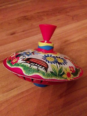 Vintage Colourful Spinning Top Made in Germany