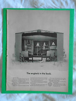 #4 Feb 1967 Volkswagen Camper Campmobile magazine print ad advertisement