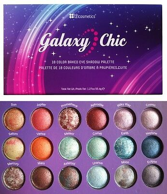BH Cosmetics 18 Color Baked Eyeshadow Palette - Galaxy Chic