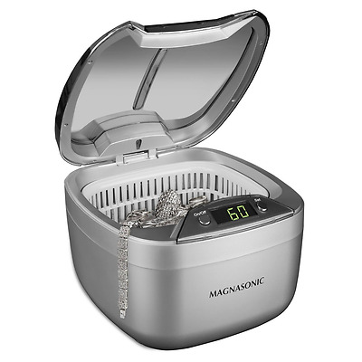 Magnasonic Professional Ultrasonic Jewelry Cleaner, Dual-Wave Heavy Duty Cleanin