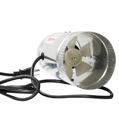 iPower GLFANXBOOSTER4 Inline Ducting Booster Fan with Cord, 4-Inch Diameter