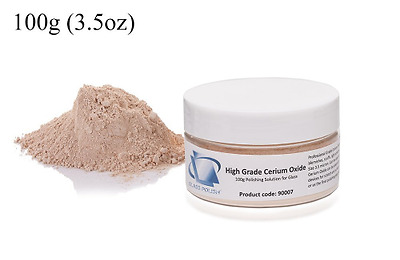 Cerium Oxide Glass Polishing Powder 3.5microns - 3.5 ounces (100grams) High Grad