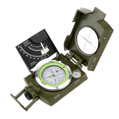 Compass, ARCHEER Professional Compass Military Army Metal Sighting Clinometer Mu