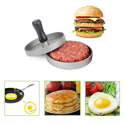 SlowTon Burger Press, Aluminum Non Stick Hamburger Maker Patty Mold with 2 Pack