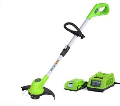 Greenworks 24v Lithium-Ion Cordless Trimmer Strimmer/ Edger + BATTERY & CHARGER
