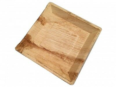 25cm Square Palm Leaf Plates (Pack of 25) 100% Eco-friendly and bio degradable p
