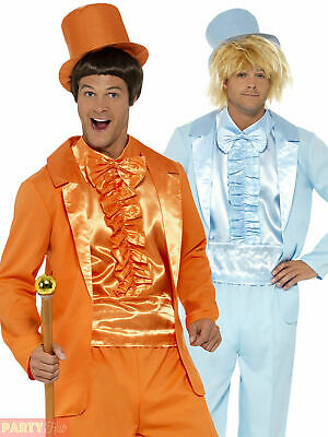 Mens 90s Dumb and Dumber Costume Adult Tuxedo Suit + Hat 90s Fancy Dress Outfit