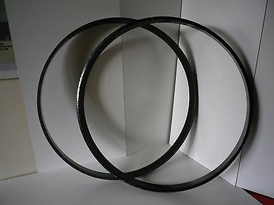 "2 x Yamaha Stage Custom Lacquered Black Wood Hoops for 22"" Bass Drums"