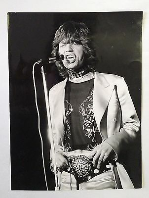 Ancienne Old Photographie Picture Argentique Original Mick Jagger Rolling Stones