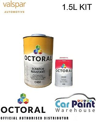 Octoral C450 Lacquer / Clearcoat 2k KIT 6L car - Fast Drying a Valspar brand