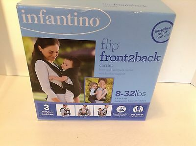 infantino front 2 back baby carrier New 8-32 pounds 3 carrying positions