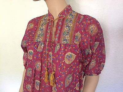 gauze dress kaftan Hippy Boho s 10/8 1970s Indian style Vintage