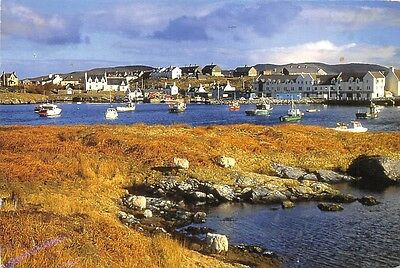 Lochboisdale in South Uist Boats General view