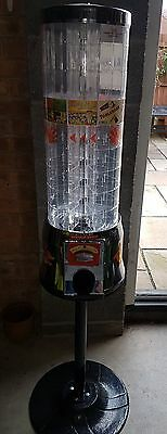 Tubz Sweet Vending Tower plus Stand and Keys, in very good condition.