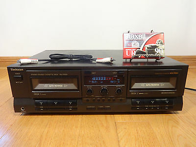 Technics RS-TR333 Dual Cassette Tape Deck Auto-Reverse 1992 Japan TESTED 100%