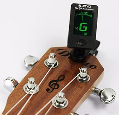 Digital Clip on Guitar Tuner Bass Violin Acoustic Chromatic Pedal Electric  LCD