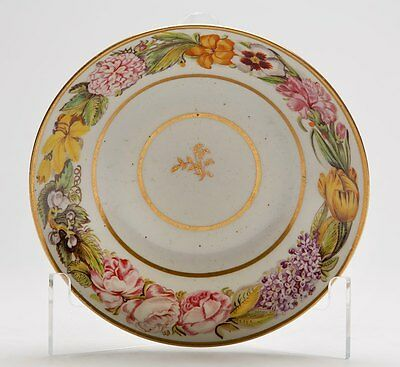 Antique Floral Hand Painted Saucer C.1800