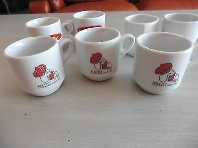 10 Tasses A Cafe Publicitaire Neuves Folliet Grillon Segafredo Zanetti Richard