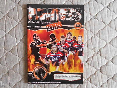 Blackpool Panthers V Swinton Northern Rail Cup Match Programme 2005