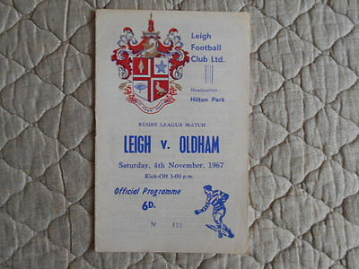 1967/68 Leigh V Oldham Rugby League Match Programme