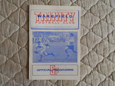 1973/74 Wakefield V St Helens J. Players Trophy 3Rd Round Match Programme