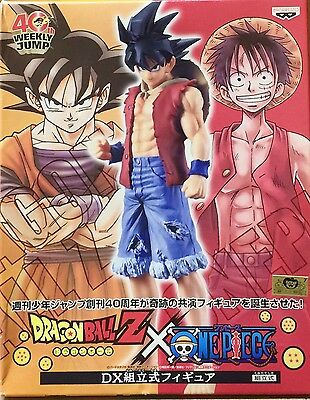 DRAGON BALL Z x ONE PIECE DX GOKU GOKOU LUFFY 40th ANNIVERSARY FIGURE FIGURA NEW