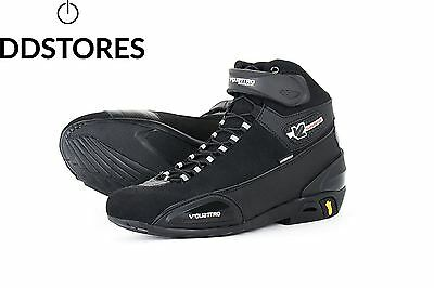 V Quattro Design Chaussure de Moto Supersport Waterproof, Noir, 40