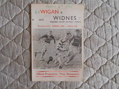 1960/61 Wigan V Widnes Rugby League Match Programme
