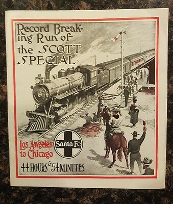 Record Breaking Run of the Scott Special Los Angeles to Chicago Santa Fe SF