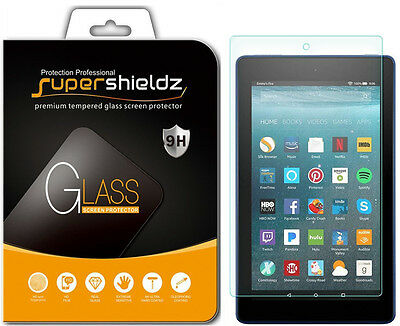 2X Tempered Glass Screen Protector for Amazon Fire HD 8  (2017 /2018 release)