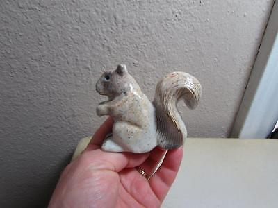 Squirrel, Hand carved Stone from the Andes, Richly Hued Stone Squirrel, Unique!