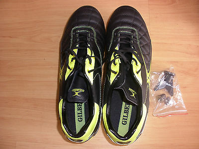 Gilbert yellow and black rugby boots (UK10  EU 44.5)
