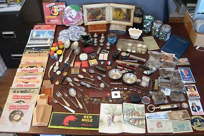 Ultimate Junk Drawer! Collectibles Watches Art Coins Paper Jewelry Records Misc.