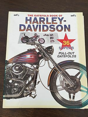 The Gatefold Book Of Harley Davidson With Pullout Photo Type Posters